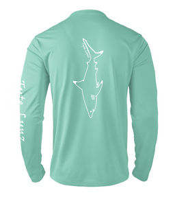 Mens Shoreline Popcorn Knit Long-Sleeve Blacktip Shark | Cabana | Tyte Lynz