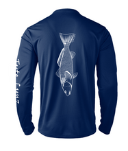 Load image into Gallery viewer, Mens Shoreline Popcorn Knit Long-Sleeve Redfish | Cobalt | Tyte Lynz