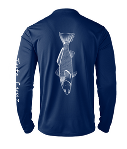 Mens Shoreline Popcorn Knit Long-Sleeve Redfish | Cobalt | Tyte Lynz