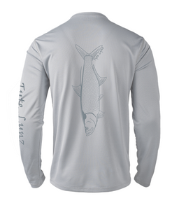 Mens Shoreline Popcorn Knit Long-Sleeve Tarpon | Platinum | Tyte Lynz