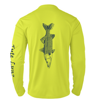 Load image into Gallery viewer, Mens Shoreline Popcorn Knit Long-Sleeve Snook | Hi-Vis Yellow | Tyte Lynz