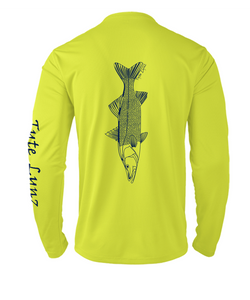 Mens Shoreline Popcorn Knit Long-Sleeve Snook | Hi-Vis Yellow | Tyte Lynz