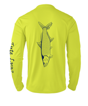 Load image into Gallery viewer, Mens Shoreline Popcorn Knit Long-Sleeve Tarpon | Hi-Vis Yellow | Tyte Lynz