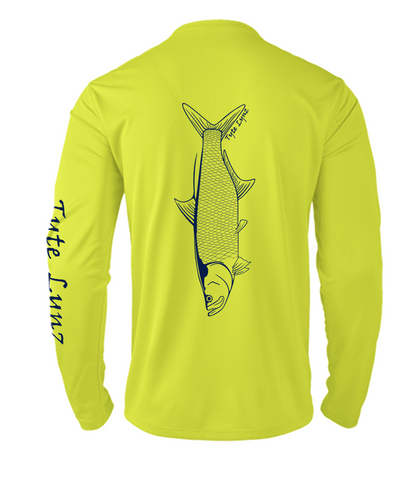 Mens Shoreline Popcorn Knit Long-Sleeve Tarpon | Hi-Vis Yellow | Tyte Lynz