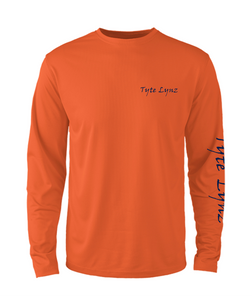 Mens Shoreline Popcorn Knit Long-Sleeve Blacktip Shark | Hi-Vis Orange | Tyte Lynz
