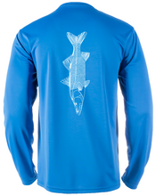 Load image into Gallery viewer, Bayside Long-Sleeve Snook | Blue | Tyte Lynz