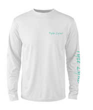 Load image into Gallery viewer, Mens Shoreline Popcorn Knit Long-Sleeve Tarpon | White | Tyte Lynz