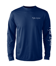 Load image into Gallery viewer, Mens Shoreline Popcorn Knit Long-Sleeve Tarpon | Cobalt | Tyte Lynz