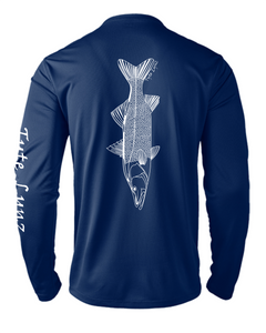 Mens Shoreline Popcorn Knit Long-Sleeve Snook | Cobalt | Tyte Lynz