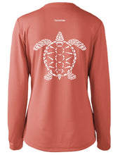 Load image into Gallery viewer, Ladies Shoreline Popcorn Knit Long-Sleeve Sea Turtle | Grenadine | Tyte Lynz