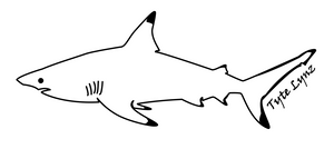 Tyte Lynz Blacktip Shark Vinyl Decal | Left Facing | Black