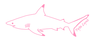 Tyte Lynz Blacktip Shark Vinyl Decal | Left Facing | Soft Pink