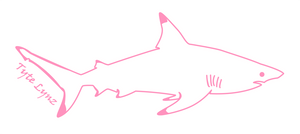 Tyte Lynz Blacktip Shark Vinyl Decal | Right Facing | Soft Pink