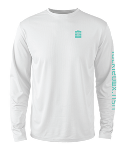 Mens Shoreline Popcorn Knit Long-Sleeve Blacktip Shark | White | Tyte Lynz