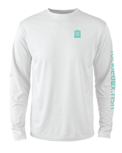 Load image into Gallery viewer, Mens Shoreline Popcorn Knit Long-Sleeve Snook | White | Tyte Lynz