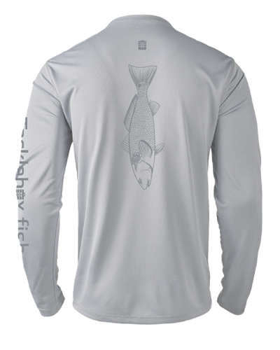 Mens Shoreline Popcorn Knit Long-Sleeve Redfish | Platinum | Tyte Lynz