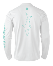 Load image into Gallery viewer, Mens Shoreline Popcorn Knit Long-Sleeve Blacktip Shark | White | Tyte Lynz