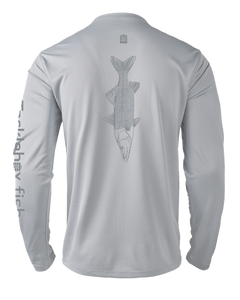 Mens Shoreline Popcorn Knit Long-Sleeve Snook | Platinum | Tyte Lynz