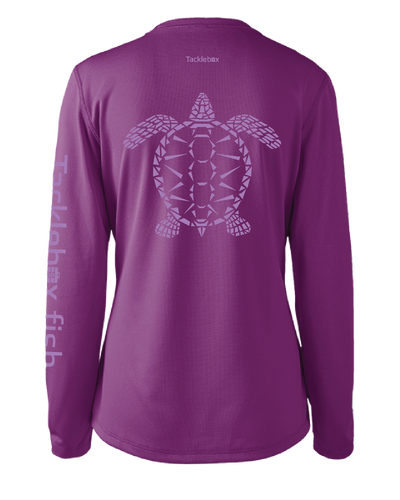 Ladies Shoreline Popcorn Knit Long-Sleeve Sea Turtle | Blackberry Ice | Tyte Lynz