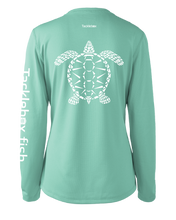 Load image into Gallery viewer, Ladies Shoreline Popcorn Knit Long-Sleeve Sea Turtle | Cabana | Tyte Lynz