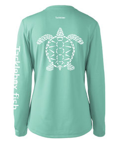 Ladies Shoreline Popcorn Knit Long-Sleeve Sea Turtle | Cabana | Tyte Lynz