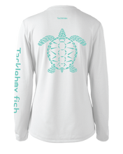 Load image into Gallery viewer, Ladies Shoreline Popcorn Knit Long-Sleeve Sea Turtle | White | Tyte Lynz
