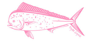 Tyte Lynz Mahi Vinyl Decal | Left Facing | Soft Pink