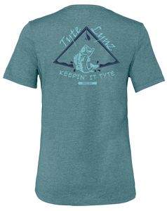 Keep It Tyte Bass Tee | Heather Deep Teal | Tyte Lynz