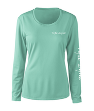 Load image into Gallery viewer, Ladies Shoreline Popcorn Knit Long-Sleeve Tarpon | Cabana | Tyte Lynz
