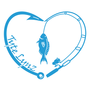 Tyte Lynz Love To Fish Vinyl Decal | Ice Blue