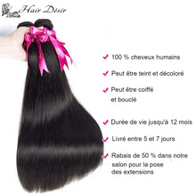 Extension cheveux naturel noir Péruvien Remy