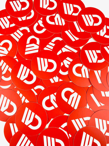 WagonsDaily™ Logo Sticker - RED Circle