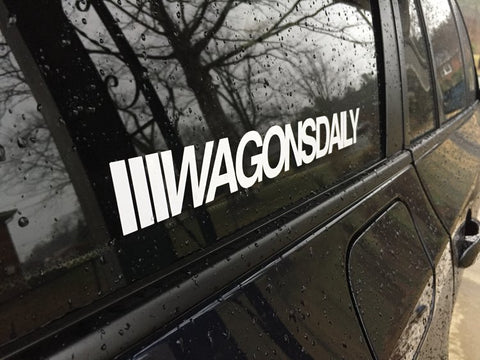 "WagonsDaily™ Window Decal (11"")"