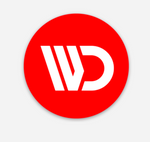WagonsDaily™ Logo Sticker - RED Circle (Pre-Order)