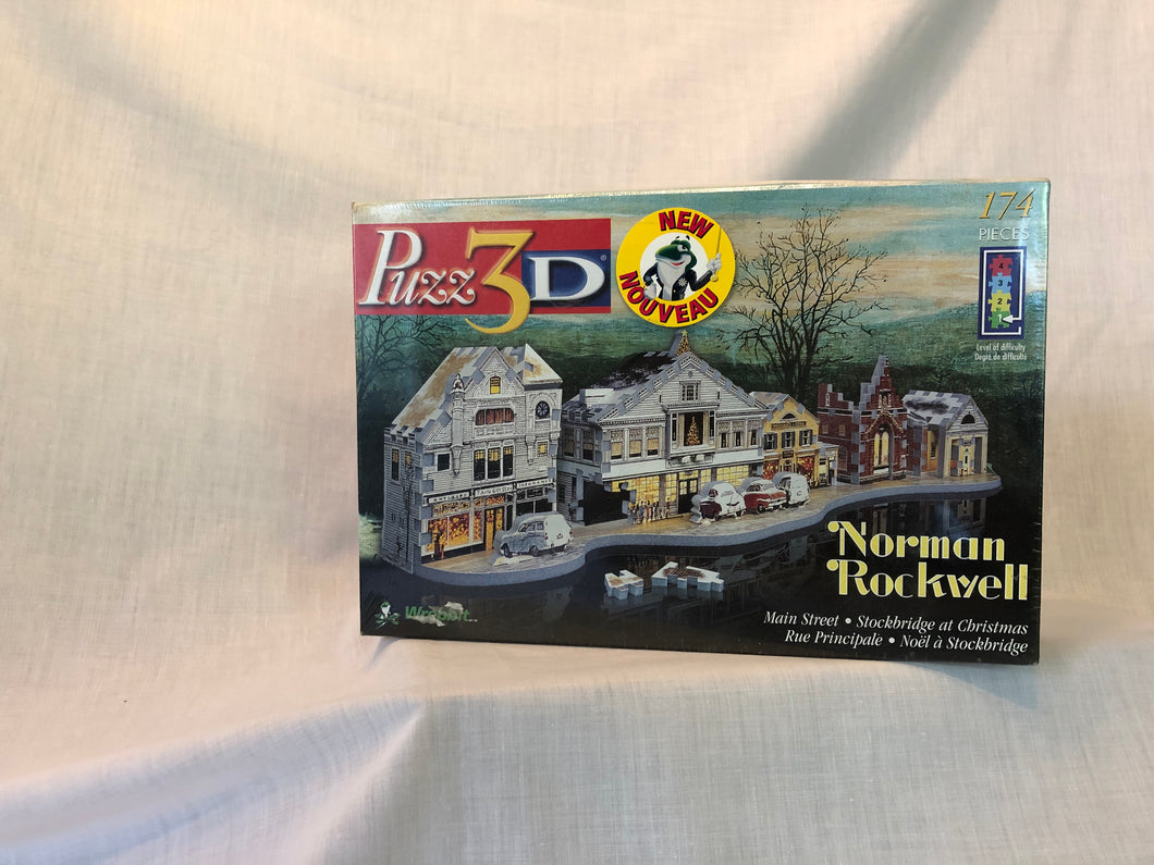 Norman Rockwell - Main Street 3D Puzzle - missing-pieces-for-you