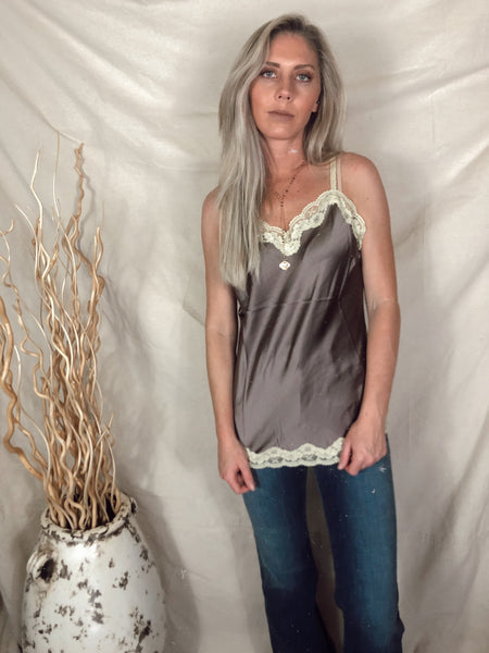 Silk Dreams Cami ~ Taupe