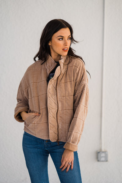 The Santa Maria Quilted Washed Jacket