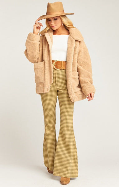 Cordelia Jacket ~ Butterscotch Teddy Fleece