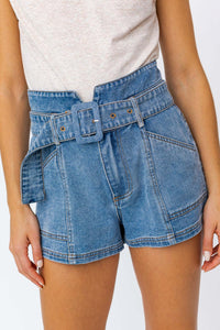Crazy About You Belted Shorts