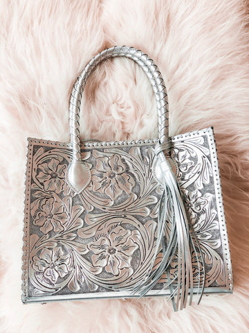 Marcos Tooled Tote
