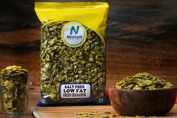 SALT FREE LOW FAT GREEN CHANACHOR NAMKEEN