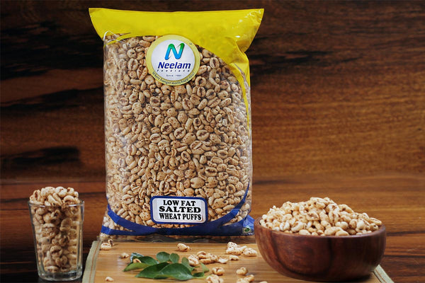 SALT FREE LOW FAT WHEAT PUFF NAMKEEN