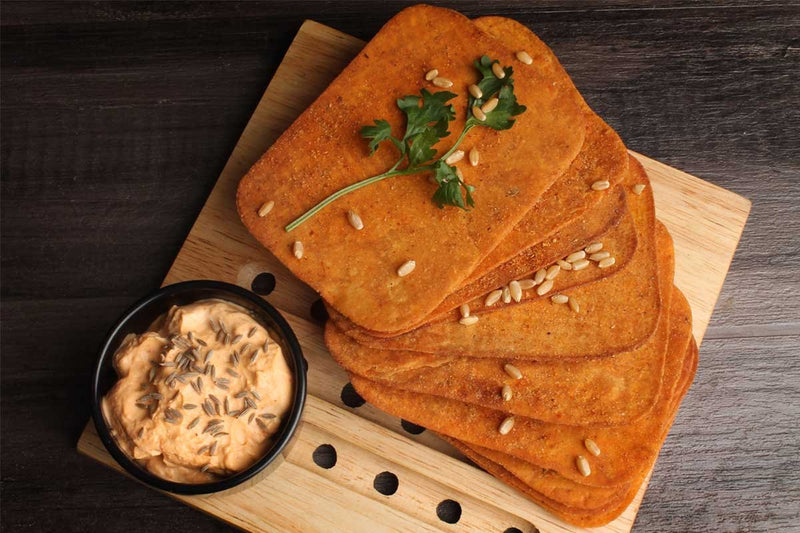 Low Fat Whole Wheat Schezwan Khakhra Mobile