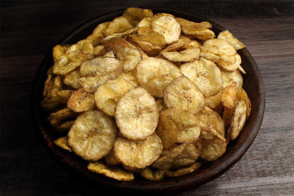 Low Fat Banana Chips Extra Thin Black Pepper