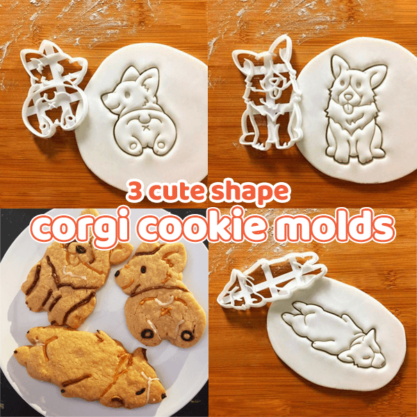 Cute Shape Corgi Cookie Molds