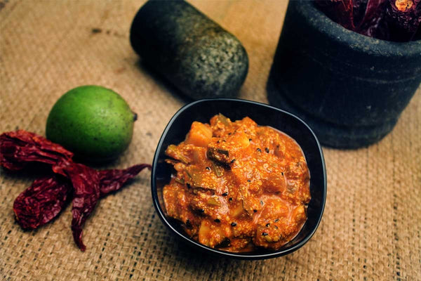 Home Made Oil Free Mango Pickle