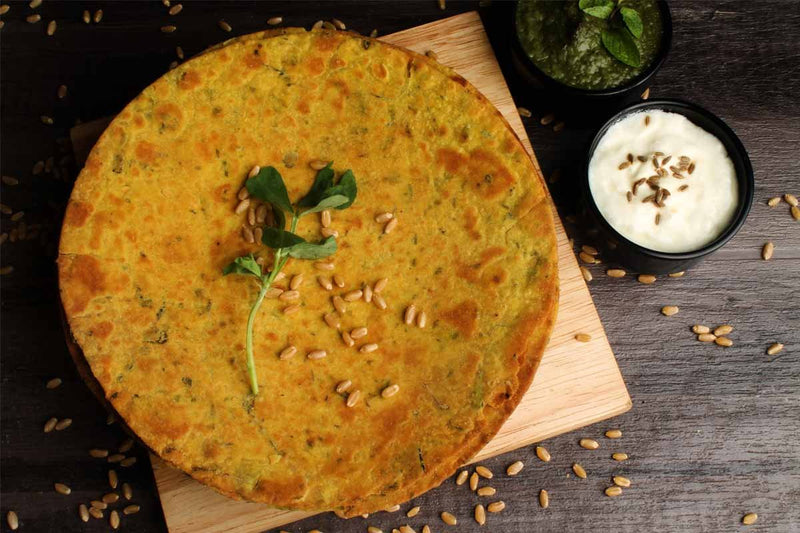 Roasted Whole Wheat Methi Khakhra