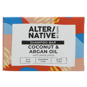Alter/native By Suma Glycerine Shampoo Bar- Coconut and Argan oil