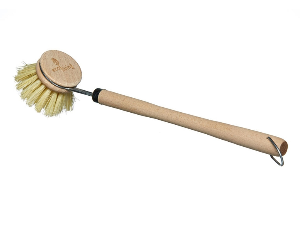 Wooden Long Handled Dish Brush with Replaceable Head