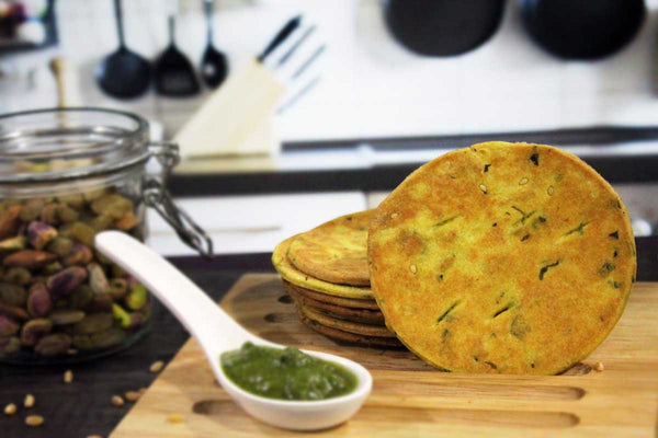 Low Fat Salt Free Methi Bhakhari